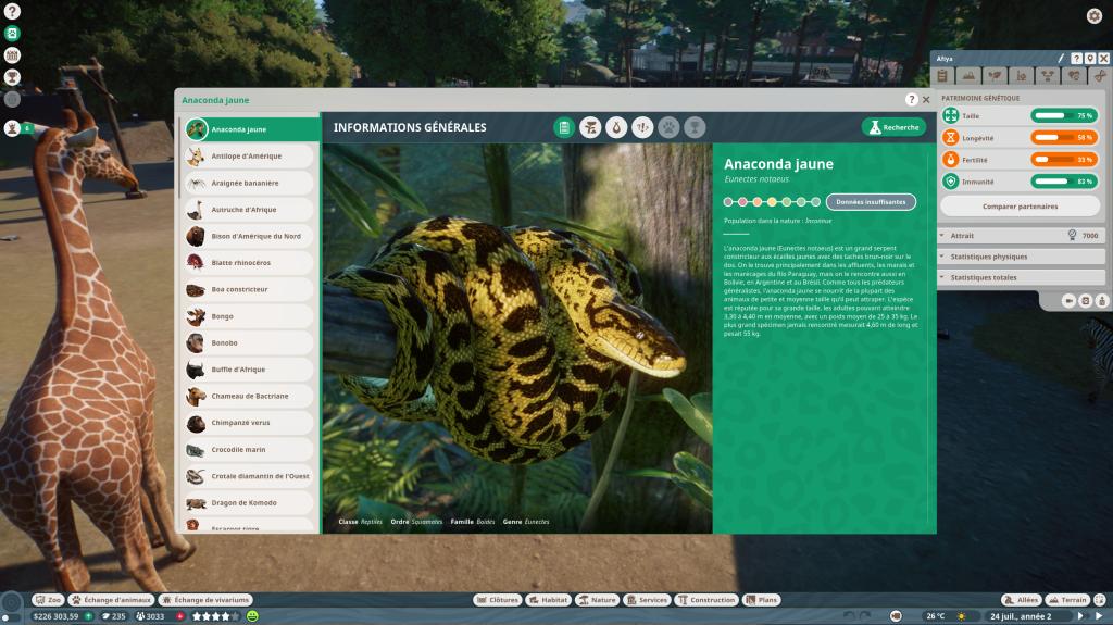 Planet Zoo Encyclopédie (1)
