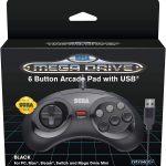 Retrobit - Manette Officielle SEGA Mega Drive Mini 6-boutons USB - Noire