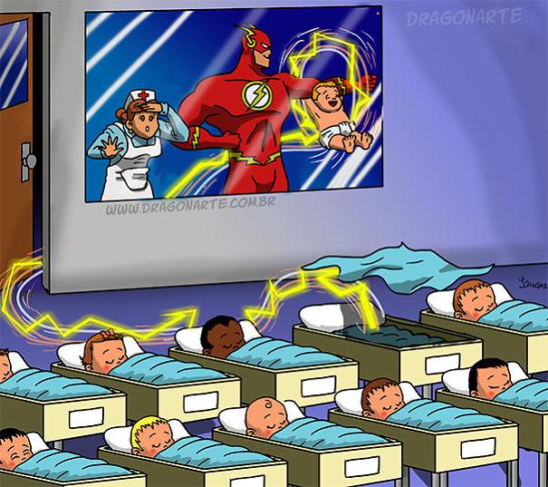 [Insolite] Mais que font les Super-Héros quand ils ne sauvent pas le monde (4)