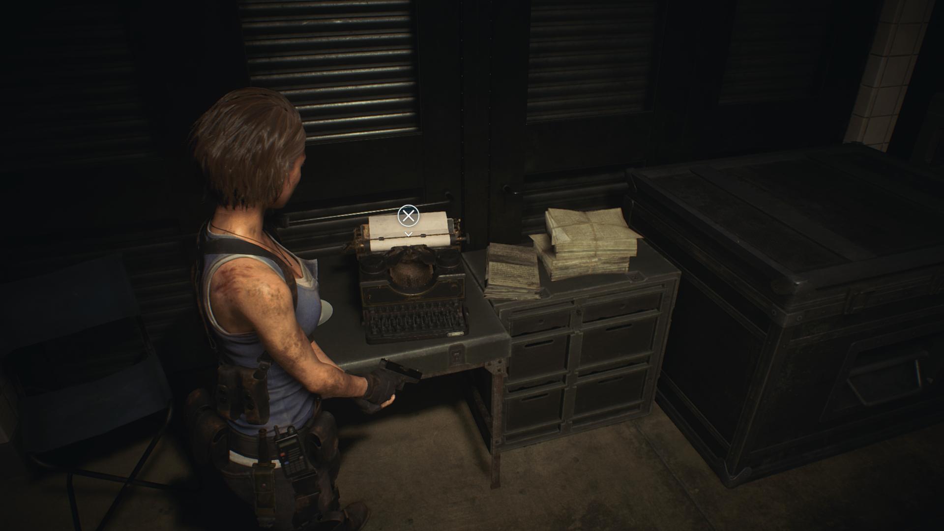 La fameuse machine à écrire pour sauvegarder