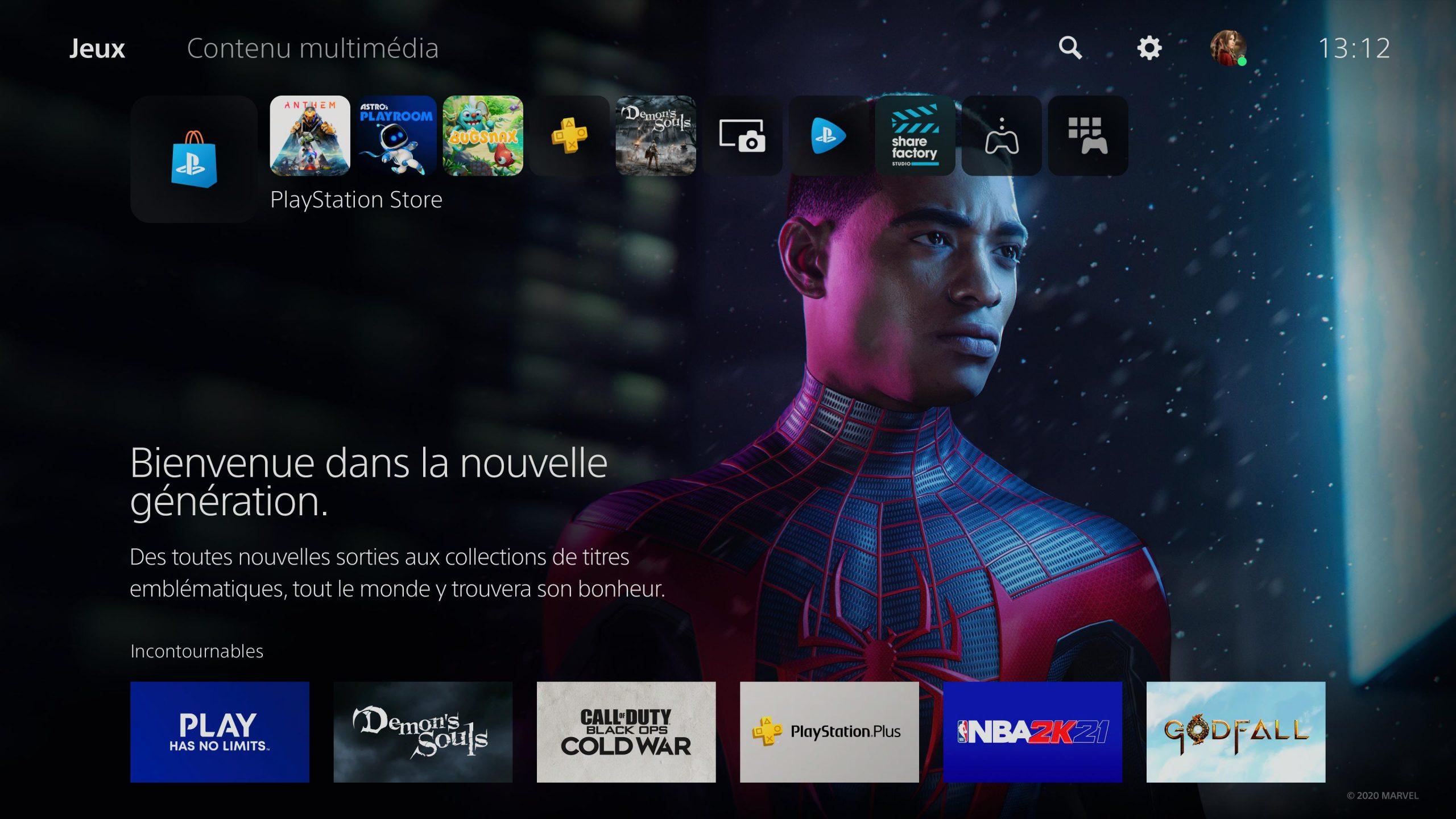 L'interface de la console